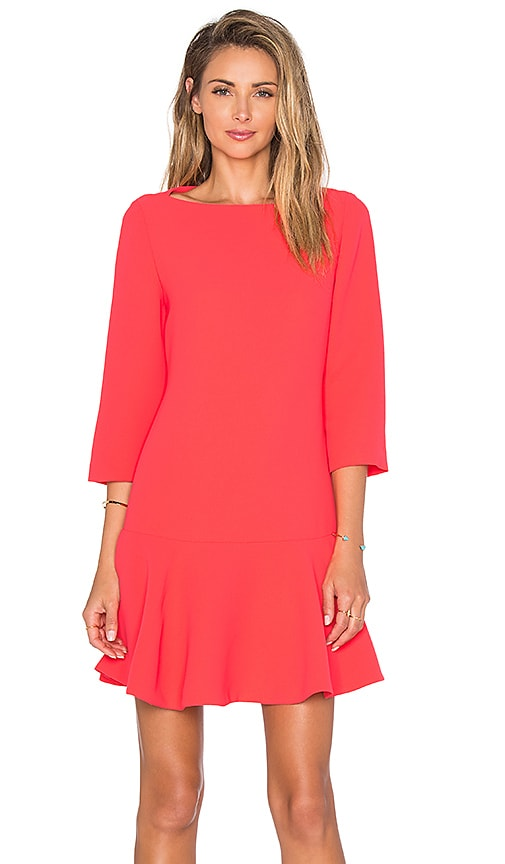 kate spade new york Crepe Flounce Dress in Geranium