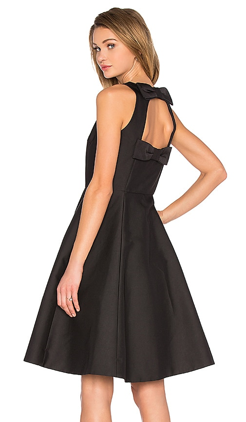 kate spade new york Double Bow Midi Dress in Black