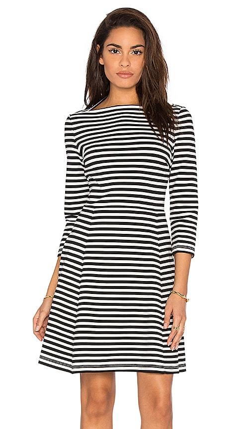 kate spade new york Stripe Everyday Dress in Black & White