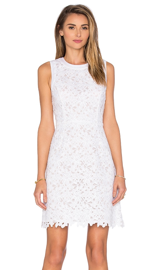 kate spade new york Floral Lace Mini Dress in White