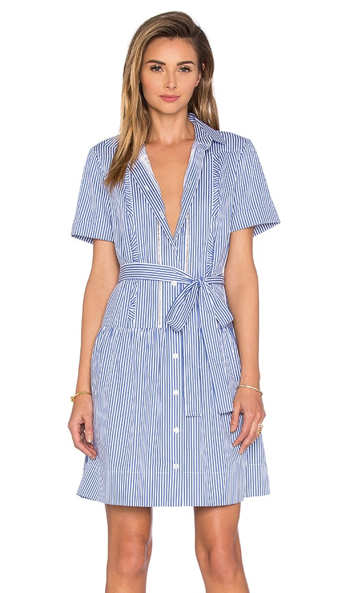 kate spade new york Pinstripe Shirt Dress in Classic Mens Blue & Fresh White