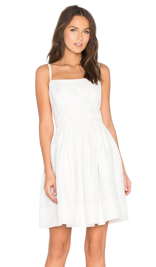 kate spade new york Ribbon Organza Bow Dress in White