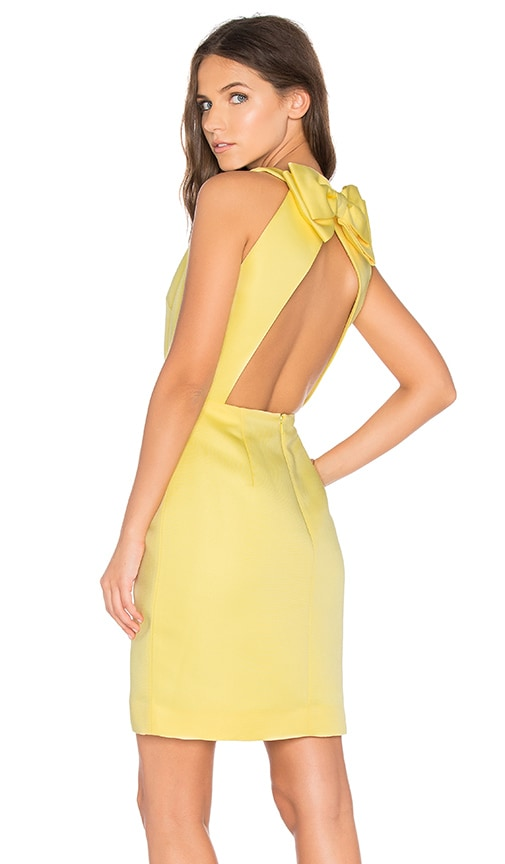 kate spade new york Bow Back Cupcake Dress in Yellow