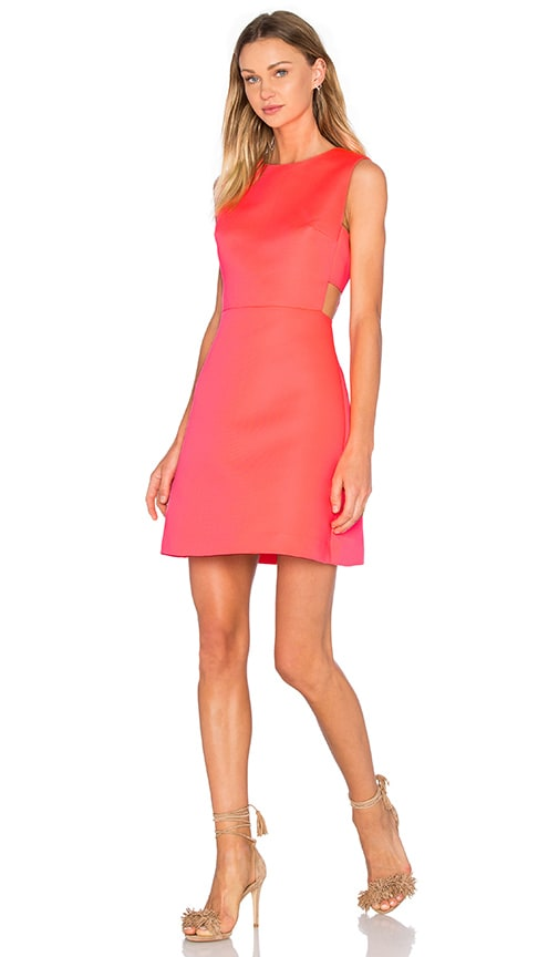 kate spade new york Cutout Flare Dress in Surprise Coral