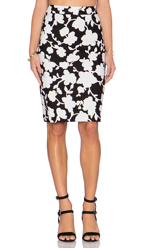 kate spade new york Floral Skirt in Black