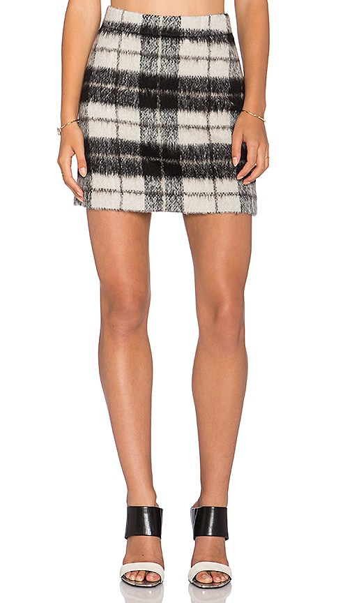 715b22d23 kate spade new york Woodland Check Mini Skirt in Pumice | REVOLVE