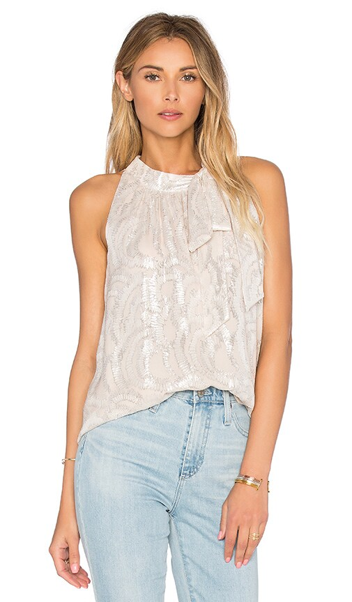 kate spade new york Fern Clipped Chiffon Top in Antilles Bubbles