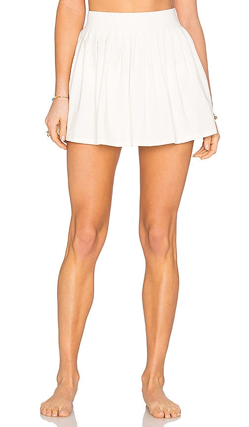 kate spade new york Pleated Skirt Cover Up in Cream