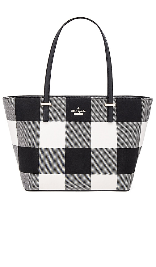kate spade new york Mini Harmony Tote in Black & White