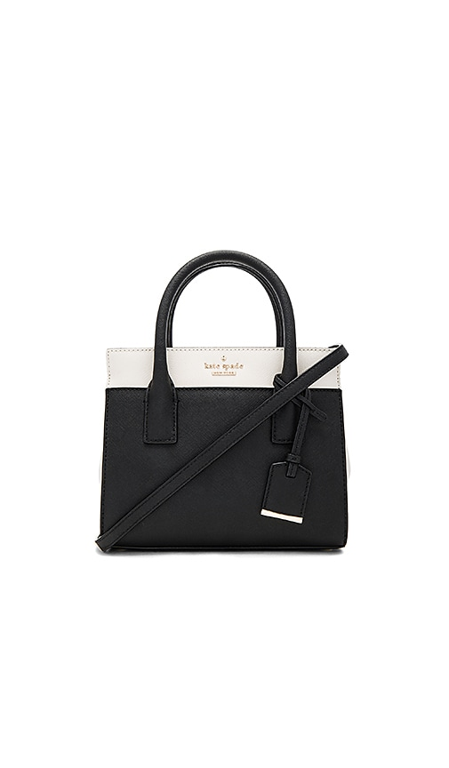 kate spade new york Mini Candace Bag in Black & White