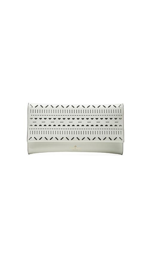 kate spade new york Neva Clutch in Bright White