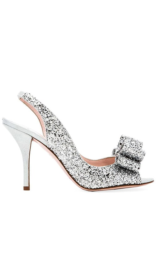 f7e1d5fc90ea kate spade new york Charm Heel in Silver Grey Glitter
