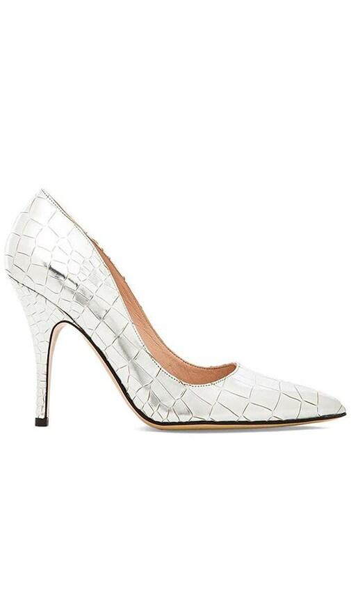 56d7ed1c88 kate spade new york Licorice Heel in Silver Metallic | REVOLVE