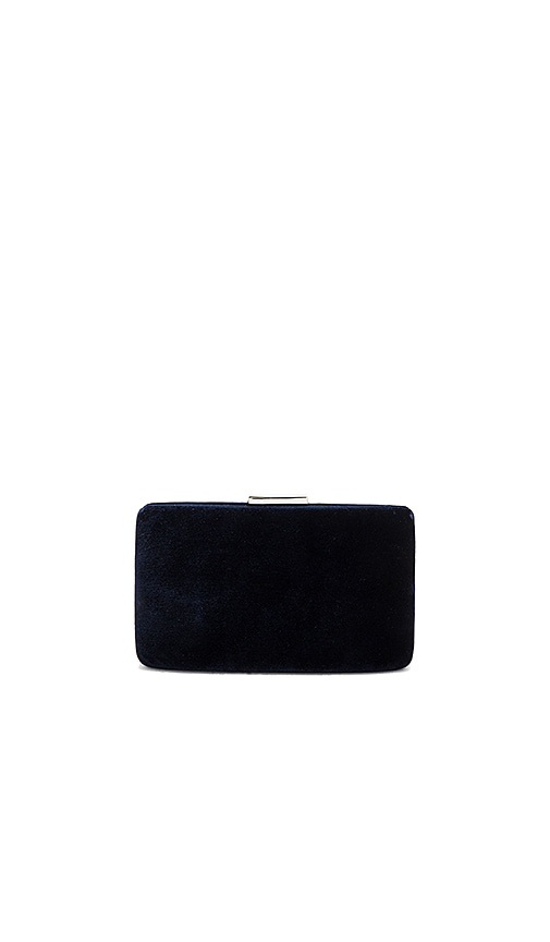 KAYU Velvet Clutch in Navy