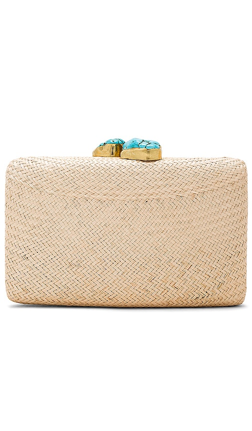 Jen Clutch In Toast & Turquoise by Kayu