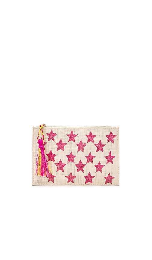 KAYU Star Clutch in Fuchsia