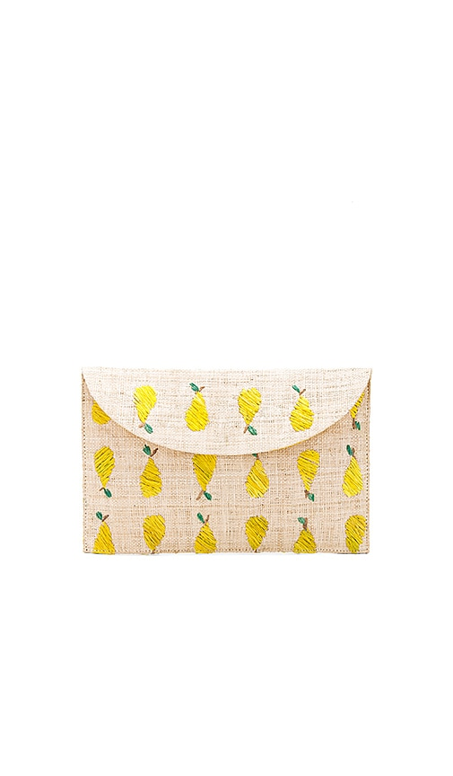 KAYU Pear Clutch in Beige