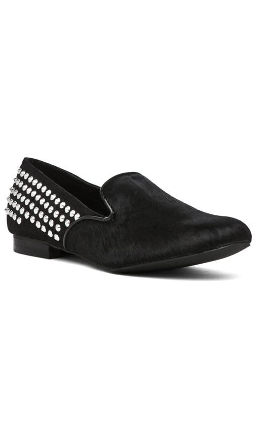 Francie Studded Flat with Calf Hair