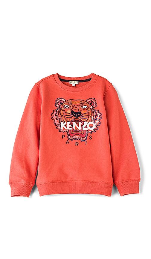 KENZO Kids Tiger Sweatshirt in Red