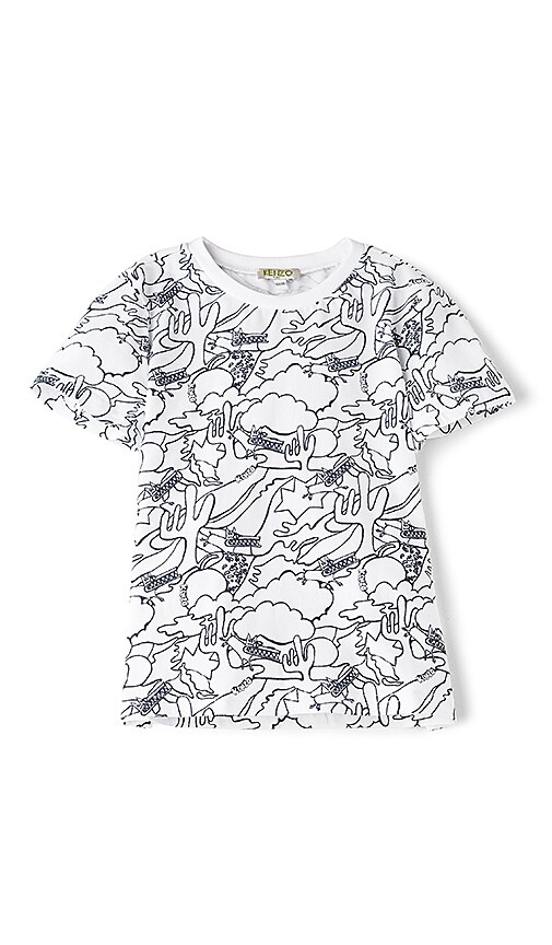 KENZO Kids Graphic Tee in White