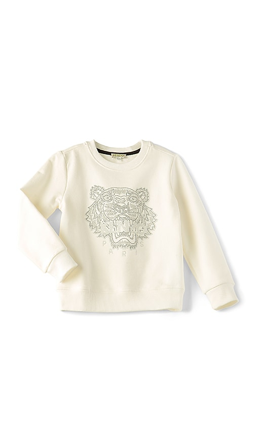 KENZO Kids Tiger Sweatshirt in White