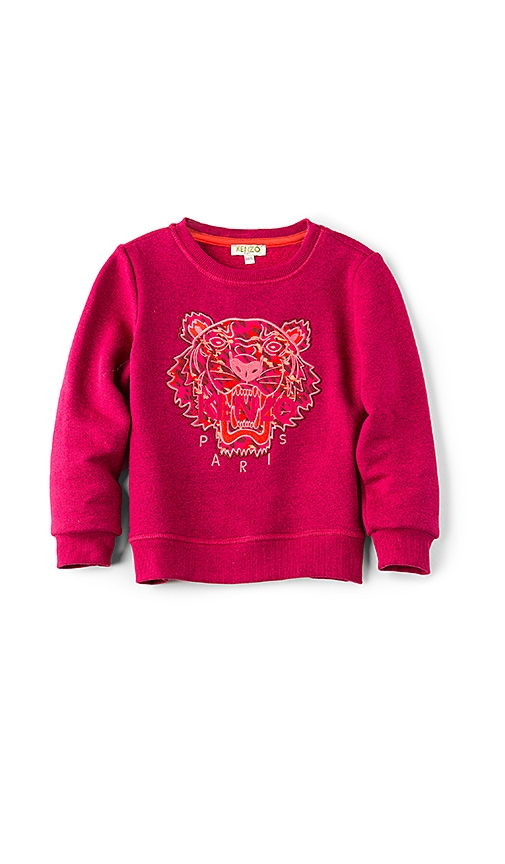 KENZO Kids Arine Tiger Sweatshirt in Fuchsia