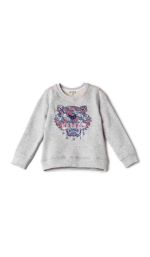 KENZO Kids Tiger Sweatshirt in Gray