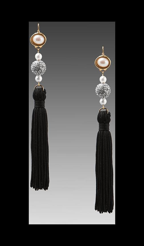 Tassel and Pearls Earring