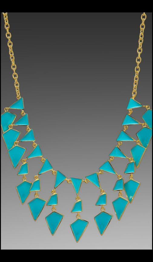 Enamel Geo Drops Necklace