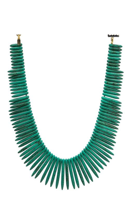 Green Stick Gold Clasp Necklace