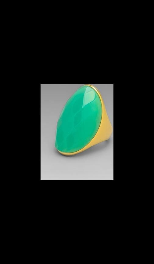 Polished Gold and Jade Ring