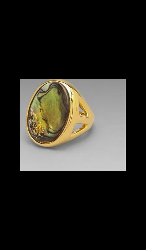 Open Faced Abalone Ring
