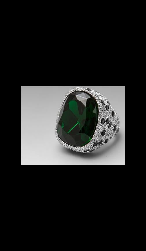 Emerald Center and Jaguar Rhinestone Ring