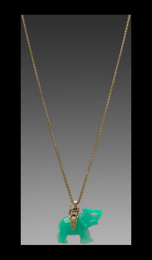 Gold Chain and Elephant Necklace