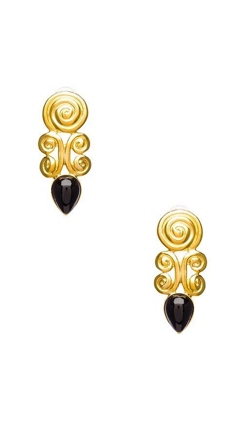 Satin Gold Swirl Teardrop Pierced Earring