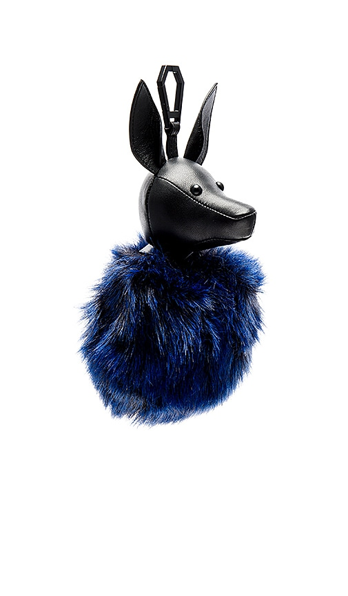 KENDALL + KYLIE Bambi Faux Fur Dog Charm in Royal