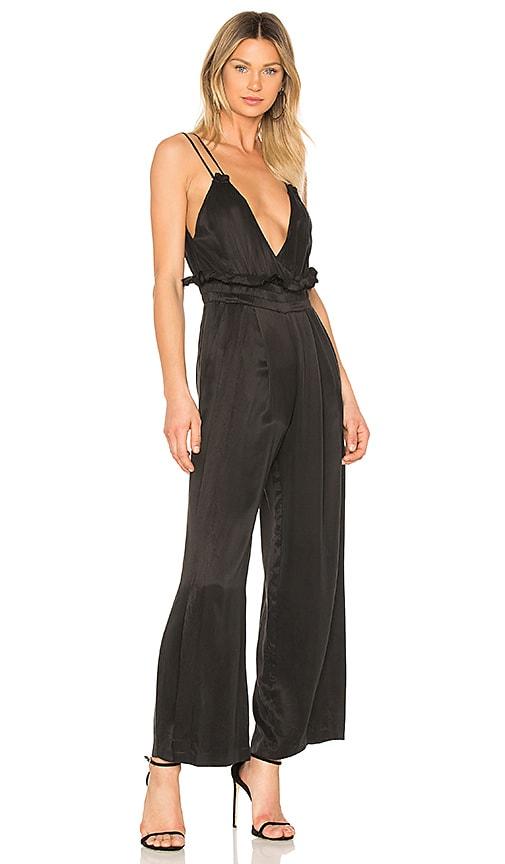 81ef5a3e10c Kendall + Kylie Rucked V-Neck Jumpsuit In Black