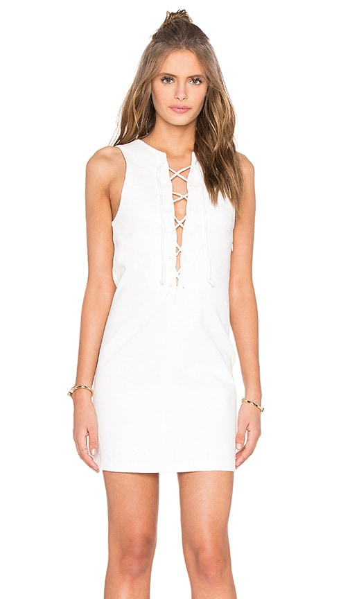KENDALL + KYLIE Lace Front Dress in White