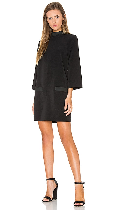 KENDALL + KYLIE Boxy A Line Dress in Black