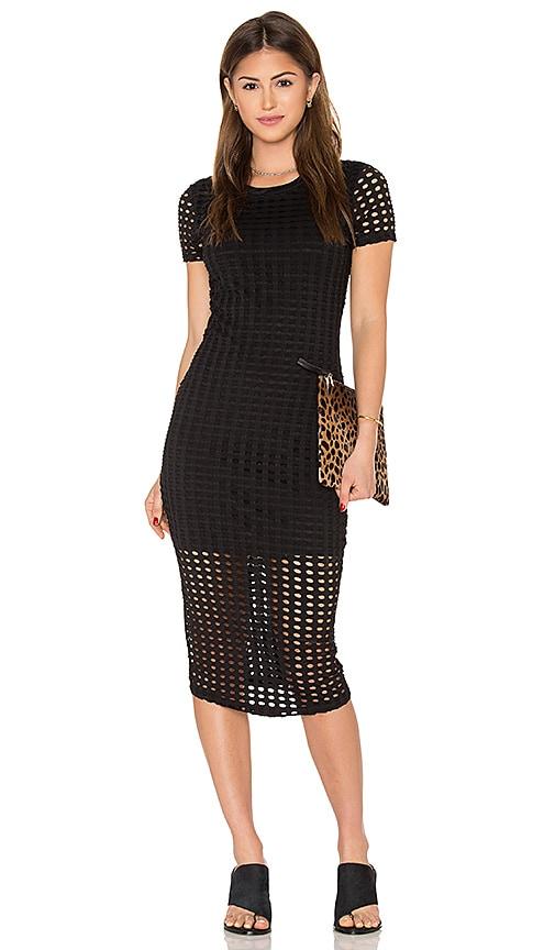 Laser Cut Out Midi Dress