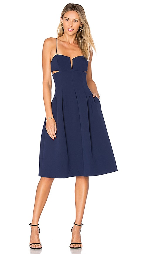 KENDALL + KYLIE Box Pleat Cami Dress in Blue