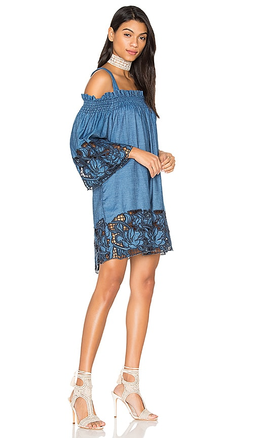 KENDALL + KYLIE Embroidered Dress in Blue