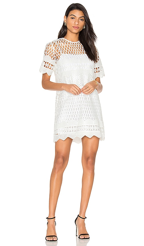 KENDALL + KYLIE Crochet Shift Dress in White
