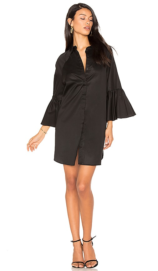 KENDALL + KYLIE Bell Sleeve Dress in Black
