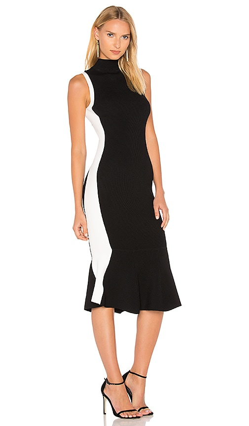 KENDALL + KYLIE Illusion Dress in Black