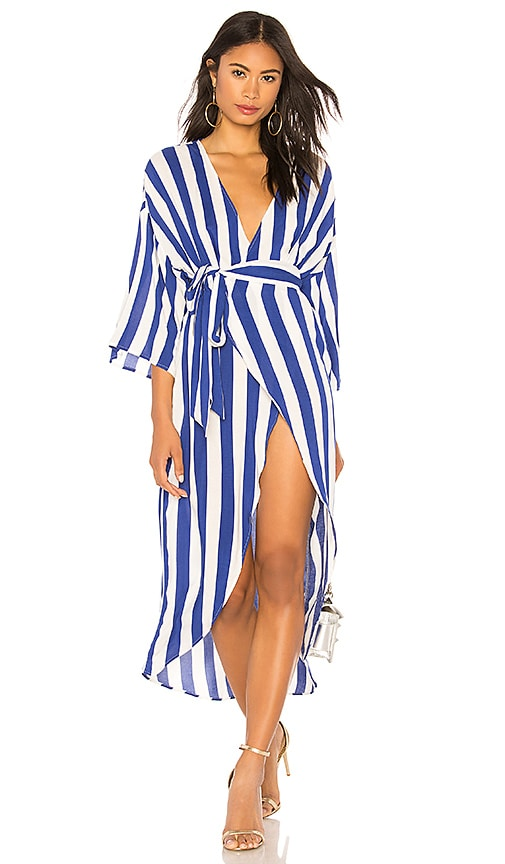KENDALL + KYLIE Wrap Dress in Royal