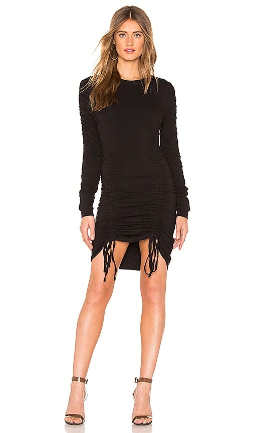Crew Neck Ruched Dress