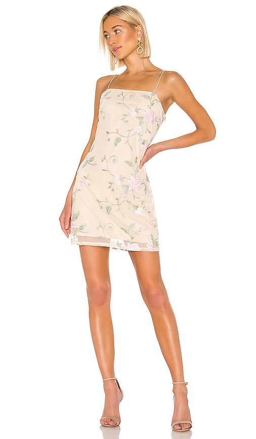 X REVOLVE Embroidered Mini Dress