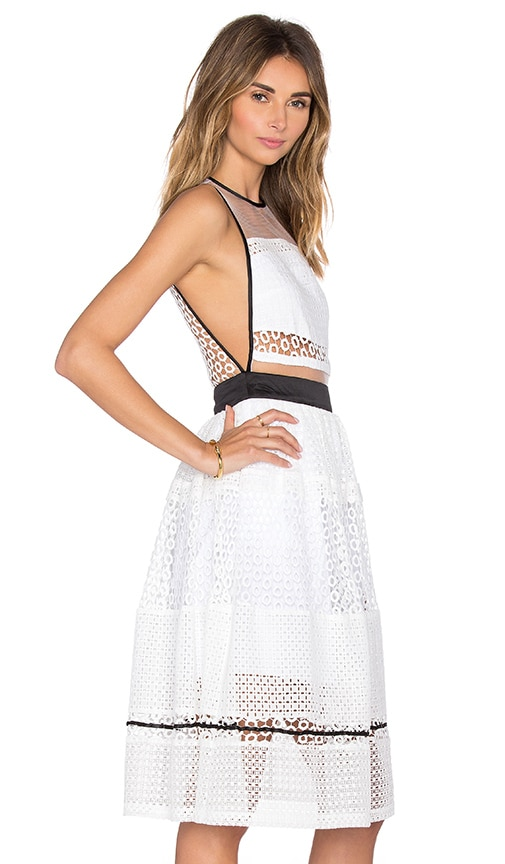 KENDALL + KYLIE Mixed Lace Dress in White