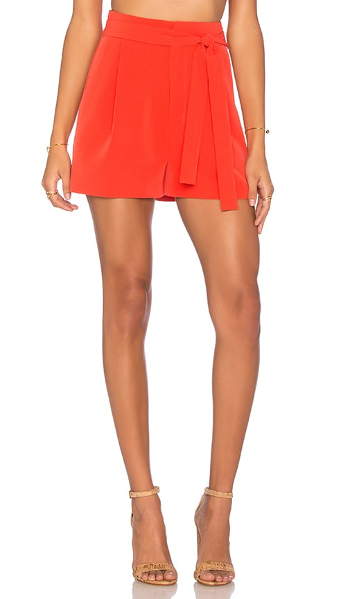 KENDALL + KYLIE Self Belt Short in Red